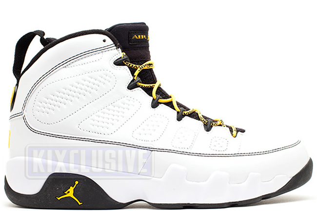 Air Jordan 9 Retro Quai 54 White / Varsity Maize