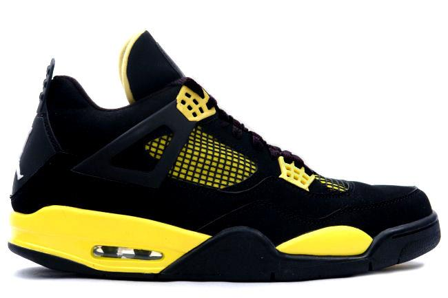 Air Jordan 4 Retro 2006 Thunder Black / Yellow