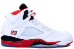 Air Jordan 5 Retro 2013 White / Fire Red / Black