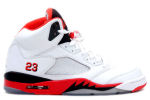 Air Jordan 5 Retro 2006 White / Fire Red / Black