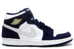 Air Jordan 1 Retro White / Silver / Navy