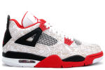 Air Jordan 4 Retro Laser White / Red