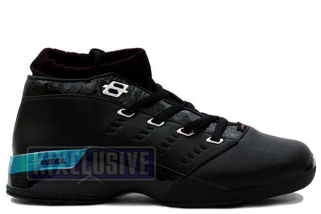 92961052e38 Kixclusive - Air Jordan 17 Low Black / Chrome (Croc)