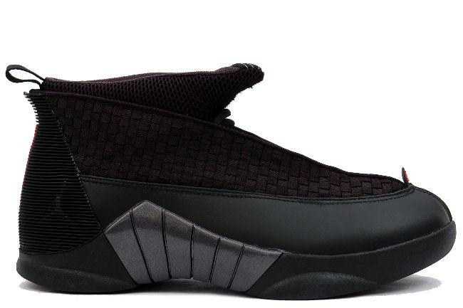 100% authentic top design arriving Air Jordan 15 Retro Black / Varsity Red