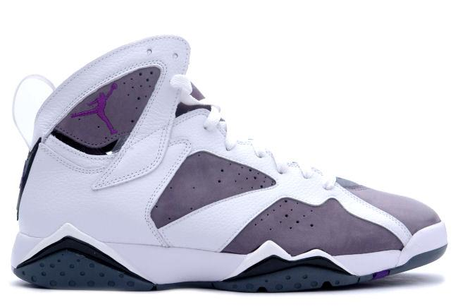 f408d6a0dfc Kixclusive - Air Jordan 7 Retro White   Varsity Purple   Flint Grey