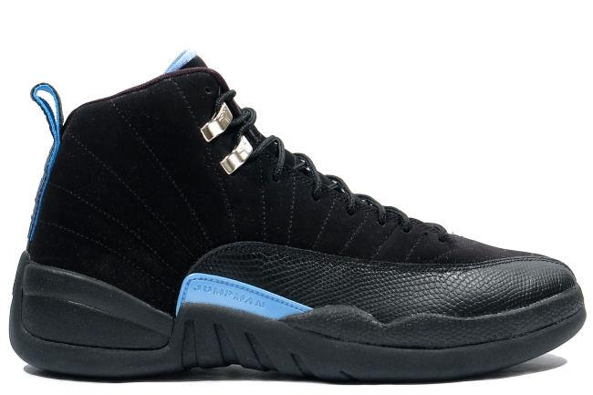 Kixclusive - Air Jordan 12 Retro 2009 Black   University Blue 4a8196803