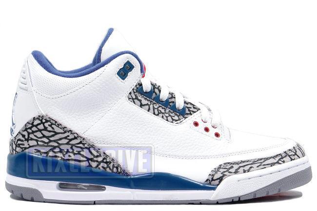 premium selection b1334 f8598 Air Jordan 3 Retro 2009 White / True Blue