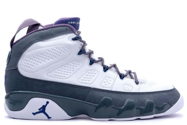 Kixclusive - Air Jordan 9 Retro + White   French Blue   Flint Grey fbd50f3db0
