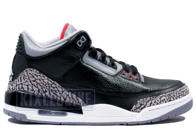 9880a230dc66d6 Kixclusive - Air Jordan 3 Retro 2011 Black   Cement Grey