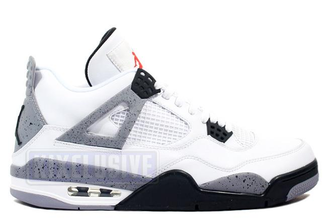 Air Jordan 4 Retro 2012 White / Black / Cement