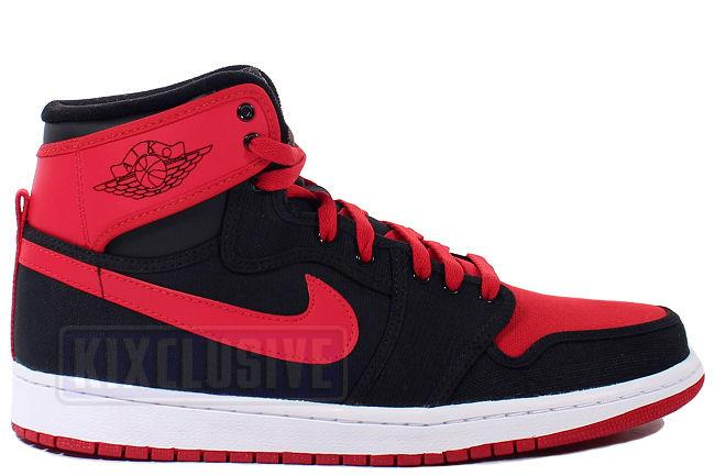 Kixclusive - Air Jordan 1 Retro KO Hi Black   Varsity Red a5e35b065