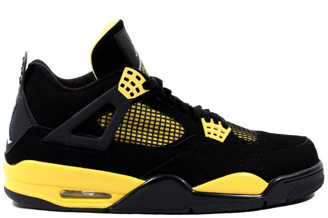 sports shoes ddddc 0a290 Air Jordan 4 Retro 2012 Thunder Black / Yellow