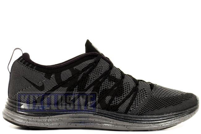 super popular df046 b8dcd Nike FlyKnit Lunar1 + Supreme Black   Grey