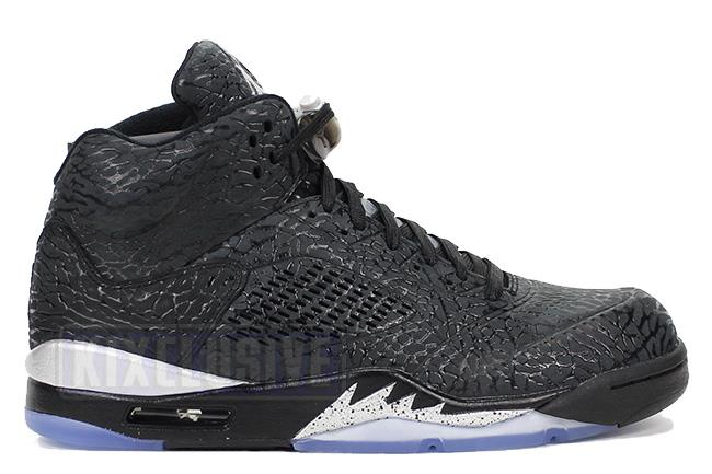 42798e4d980b Air Jordan 5 Retro 3Lab5 Black   Metallic Silver. Show Picture 1