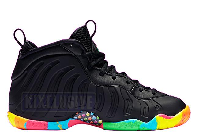 Nike Little Posite One Fruity Pebbles Black