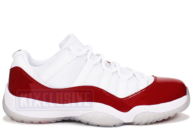 separation shoes 0c32f 2f070 Kixclusive - Air Jordan 11 Retro Low 2016 White   Varsity Red Cherry