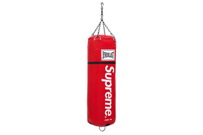 Kixclusive - Supreme X Everlast Leather Heavy 70lb Punching Bag