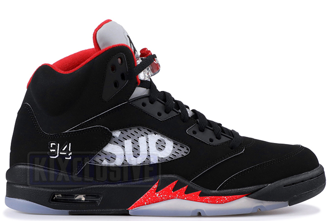 Air Jordan 5 Retro Supreme Black