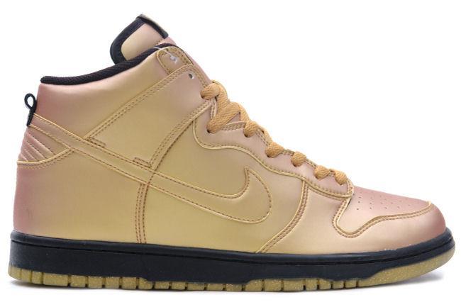 size 40 48141 4299a Nike Dunk High  Olympic  Metallic Gold