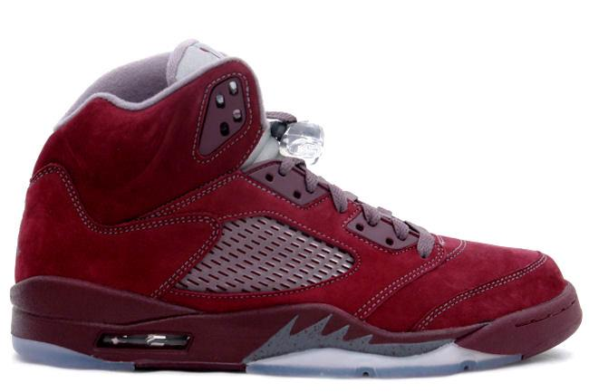 Air Jordan 5 Retro LS \u0026#39;Burgundy\u0026#39