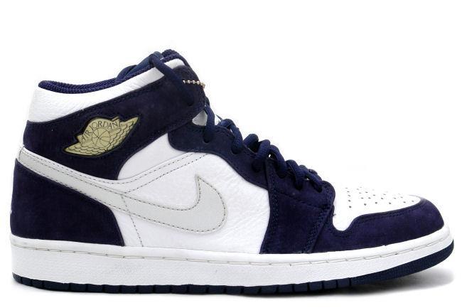 air jordan 1 navy blue white
