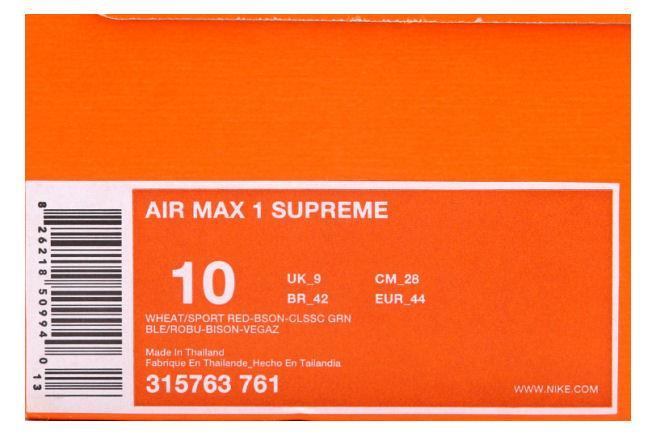 Nike Air Max 1 Suprema Safari Montaje '' Atmos gDEIuDl90N
