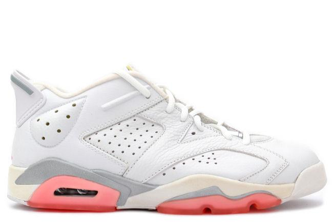 the best attitude 45485 537d7 Air Jordan 6 Retro Low White / Coral Rose