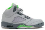 Air Jordan 5 Retro Silver / Green Bean