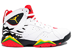 Air Jordan 7 Retro Premio Bin23 White / Del Sol / Black