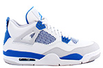Air Jordan 4 Retro 2012 White / Military Blue