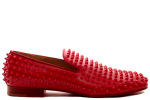 Christian Louboutin Rollerboy Spikes Flat Patent Red