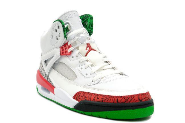 on sale 2a3e9 c5ed3 Air Jordan Spiz ike White   Red   Green