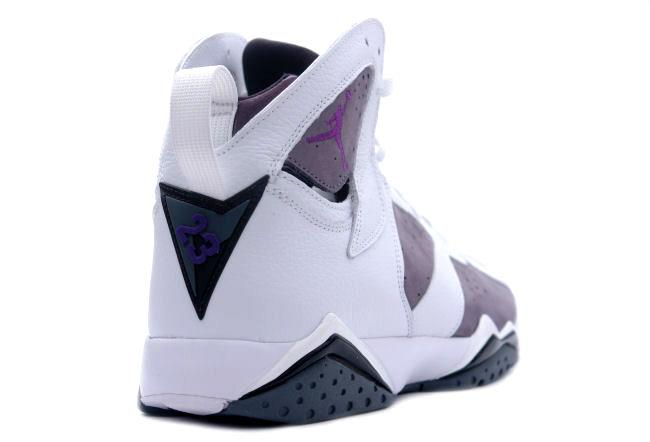 46123a8b47b Air Jordan 7 Retro White / Varsity Purple / Flint Grey. Style ID: 304775-151