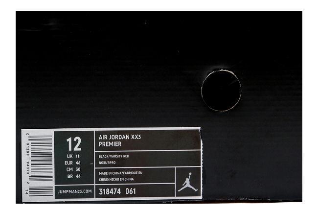 3df7cf6307a060 Air Jordan XX3 Premier Black   Red. Style ID  318474-061