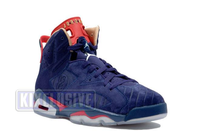 4ed8507e94b26d Kixclusive - Air Jordan 6 Retro DB Doernbecher Navy   Red