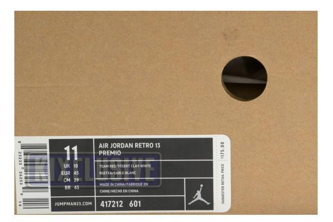 detailed look 02d50 58ca4 Air Jordan 13 Retro Premio Bin23 Red   Clay   White