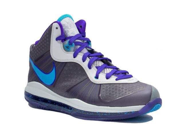 lebron 8. info: this nike lebron 8 v2 was created in honor of king james\u0027 aau squad, the summit lake hornets. shoe\u0027s upper consists neutral grey flywire offset n