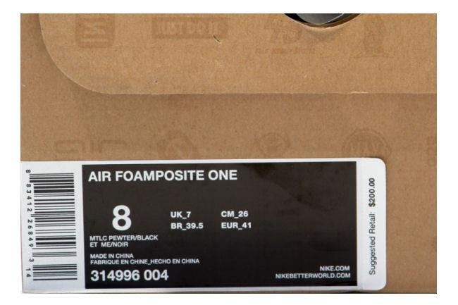 c7ffb8883fb2b Nike Air Foamposite One Pewter   Black. Style ID  314996-004