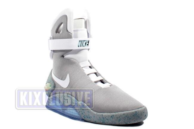 nike air mags. info: the nike air mag is first rechargeable footwear from nike. they were designed as identical replicas worn by marty mcfly in back to future mags