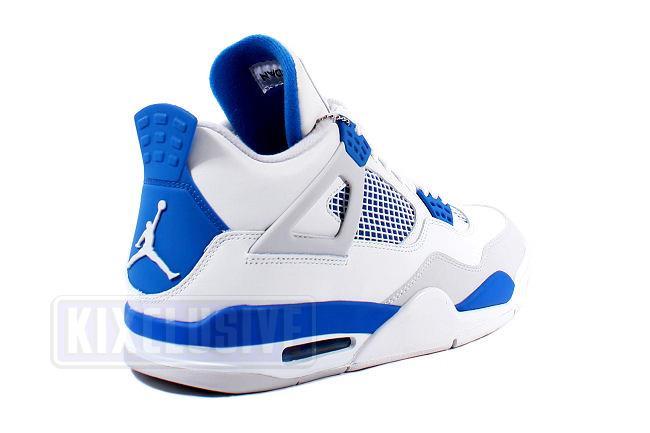 ff6b45348fe3 Kixclusive - Air Jordan 4 Retro 2012 White   Military Blue