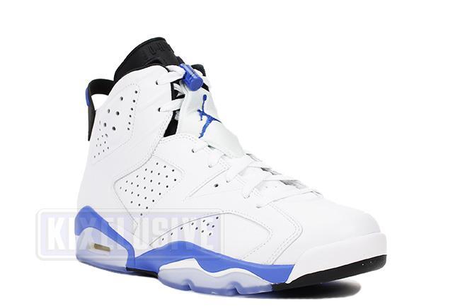 jordans 6 retro white and blue
