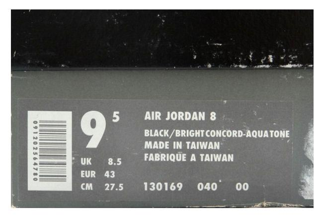 24f883db3d23ec Air Jordan 8 OG Black   Aqua. Style ID  130169-040