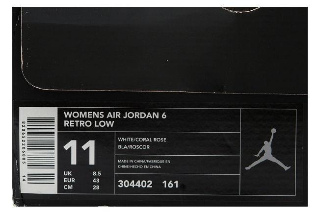 1b830a483707 Kixclusive - Air Jordan 6 Retro Low White   Coral Rose